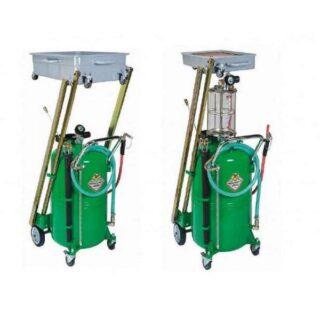 Gravitaciono-pneumatski uređaj sa prihvatnom posudom